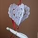 Подарки для влюбленных ручной работы. Ярмарка Мастеров - ручная работа. Купить 3d белое сердце - валентинка. Handmade. подарок женщине