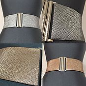 Аксессуары handmade. Livemaster - original item Belt-gum Snake Silver Gold-Beige 70 different height different price. Handmade.
