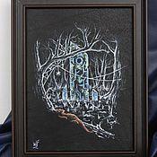 """Картины и панно ручной работы. Ярмарка Мастеров - ручная работа Картина на коже """"Затерянный Обелиск"""". Handmade."""