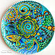 'Noise of the sea ' Dish with painted decorative plate. Plates. Art by Tanya Shest. Online shopping on My Livemaster.  Фото №2