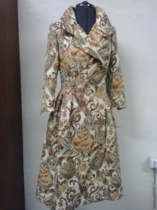 Платья ручной работы. Ярмарка Мастеров - ручная работа. Купить Платье-халат. Handmade. Золотой, повседневное платье, пышная юбка