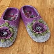 """Обувь ручной работы. Ярмарка Мастеров - ручная работа Валяные тапки с розами """"Инесса"""". Handmade."""