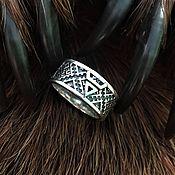 Русский стиль handmade. Livemaster - original item The symbol of Veles ring (Perunov color-overcoming the grass). Handmade.