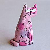 Для дома и интерьера handmade. Livemaster - original item Сeramic cat Hitrun. Handmade.