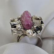Украшения handmade. Livemaster - original item Ring with tourmaline Pink ray. Handmade.