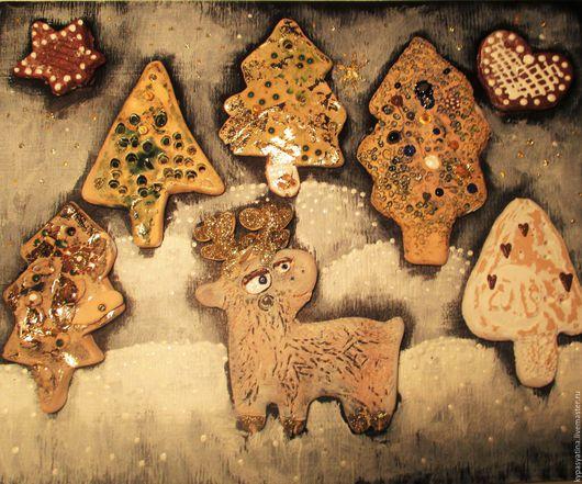 Животные ручной работы. Ярмарка Мастеров - ручная работа. Купить Северный олень в лесу. Handmade. Белый, подарок на день рождения