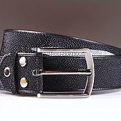 handmade. Livemaster - original item A leather belt Stingray IMC3101B. Handmade.