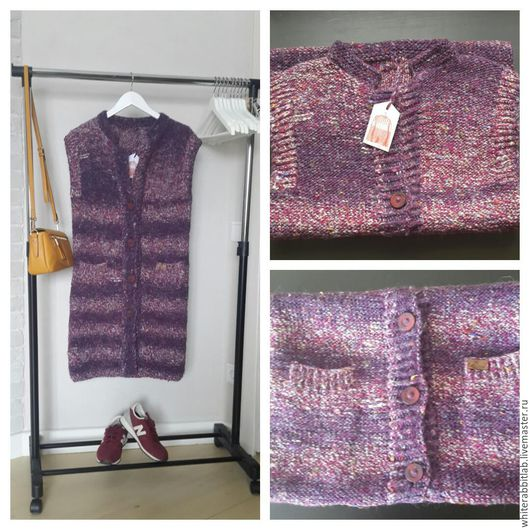 Верхняя одежда ручной работы. Ярмарка Мастеров - ручная работа. Купить утепленный жилет-пальто. Handmade. Комбинированный