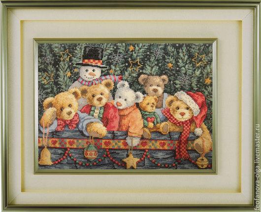 Животные ручной работы. Ярмарка Мастеров - ручная работа. Купить Рождественские мишки. Handmade. Разноцветный, мишка, ручная работа, мулине