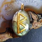 Украшения handmade. Livemaster - original item Golden Eagle Rune Talisman Pendant