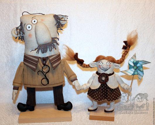 Коллекционные куклы ручной работы. Ярмарка Мастеров - ручная работа. Купить было весело нам в цирке. Handmade. Коричневый, дед
