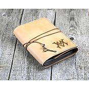 Канцелярские товары handmade. Livemaster - original item A5 leather notebook with monogrammed initials. Handmade.