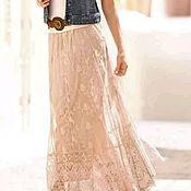 Одежда handmade. Livemaster - original item Floor-length lace skirt elegant evening white, black, blue, maroon. Handmade.