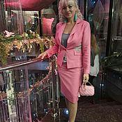 Одежда ручной работы. Ярмарка Мастеров - ручная работа Розовый костюм. Handmade.
