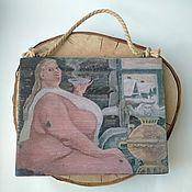 Картины и панно handmade. Livemaster - original item Panels for baths and saunas on a pine tree