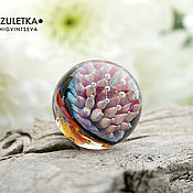 Украшения manualidades. Livemaster - hecho a mano Thoughts worlds - ball glass lampwork Marbles - Galaxy meditation. Handmade.