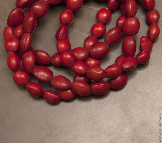 Для украшений ручной работы. Ярмарка Мастеров - ручная работа. Купить Красно-оранжевые бусины из семян дерева  Bahay. Handmade.