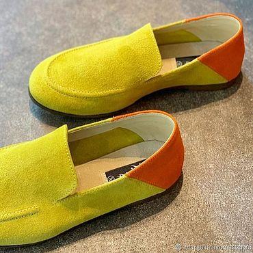 Обувь ручной работы. Ярмарка Мастеров - ручная работа Мокасины `лето`. Handmade.
