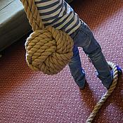 Для дома и интерьера ручной работы. Ярмарка Мастеров - ручная работа Канатный мяч с хвостом. Handmade.