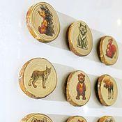 Куклы и игрушки ручной работы. Ярмарка Мастеров - ручная работа Лесные животные - магниты на холодильник (набор 10шт). Handmade.