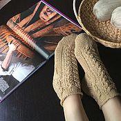 Аксессуары ручной работы. Ярмарка Мастеров - ручная работа Домашние носки Песчаные пляжи. Handmade.