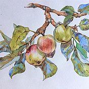 Картины и панно handmade. Livemaster - original item Apples on a branch. Handmade.