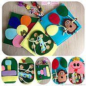 Куклы и игрушки handmade. Livemaster - original item Educational book made of felt