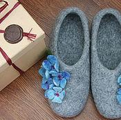 Обувь ручной работы handmade. Livemaster - original item Felted Slippers - Hydrangea 2. Handmade.