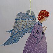 Куклы и игрушки ручной работы. Ярмарка Мастеров - ручная работа Ангел подвеска. Handmade.