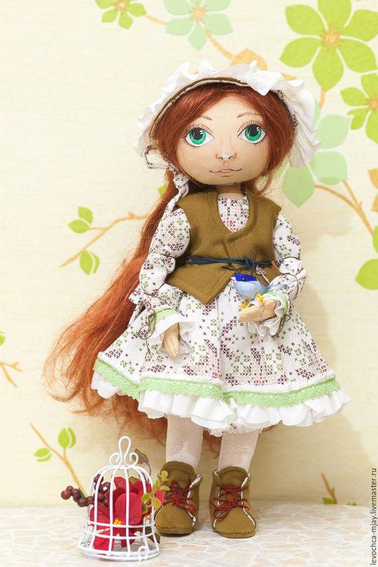 Коллекционные куклы ручной работы. Ярмарка Мастеров - ручная работа. Купить Текстильная кукла. Handmade. Комбинированный, текстильная кукла, ключик