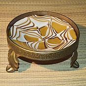 """Посуда ручной работы. Ярмарка Мастеров - ручная работа Блюдо """"Солнечный ветер"""" из литого стекла на кованой подставке. Handmade."""