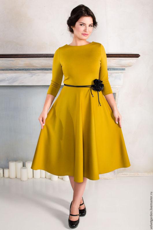 """Платья ручной работы. Ярмарка Мастеров - ручная работа. Купить Платье """" Медовые грезы"""". Handmade. Желтый, платье в офис"""