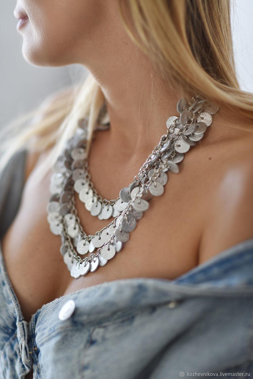 Leather choker Necklace, Necklace, Nizhnij Tagil,  Фото №1