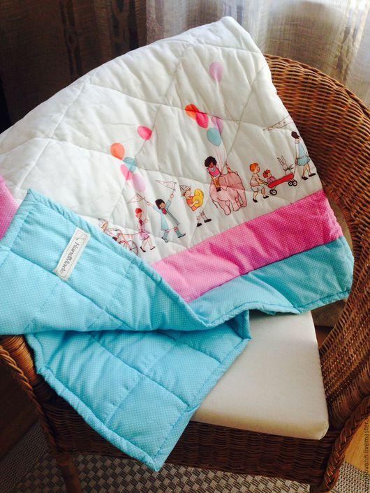 Пледы и одеяла ручной работы. Ярмарка Мастеров - ручная работа. Купить Cтёганое одеяло.. Handmade. Лоскутное одеяло, 100% хлопок
