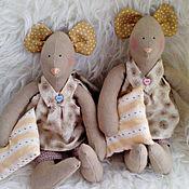 Куклы и игрушки ручной работы. Ярмарка Мастеров - ручная работа Две мышки - соньки). Handmade.