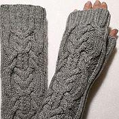 Аксессуары handmade. Livemaster - original item Fingerless long gloves Brigantine, 21. Handmade.