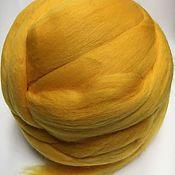 Материалы для творчества handmade. Livemaster - original item Australian Merino Yellow. Germany.19 MD. wool for felting. Handmade.