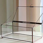 Свадебный салон handmade. Livemaster - original item Box. Tiffany box with copper seams. Handmade.