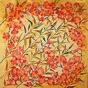 Shawls1 handmade. Livemaster - original item Silk scarf batik Sakura. Handmade.