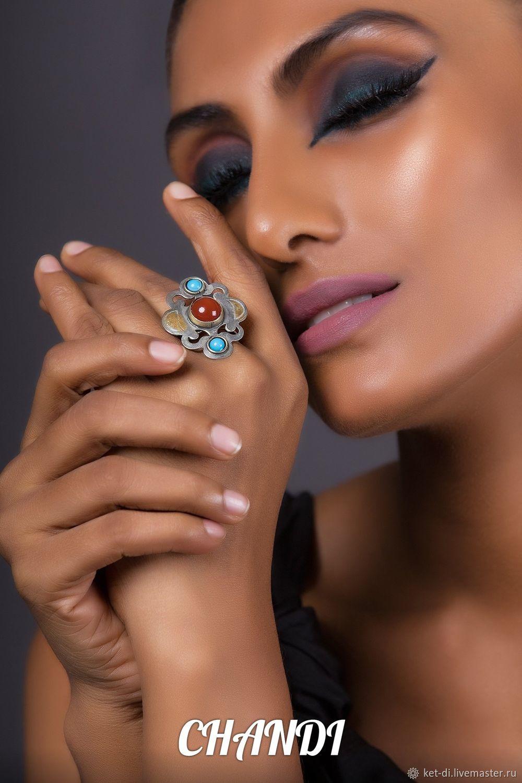 Turkmen rings with carnelian, Rings, Moscow,  Фото №1
