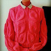 """Одежда ручной работы. Ярмарка Мастеров - ручная работа свитер """"листья"""". Handmade."""