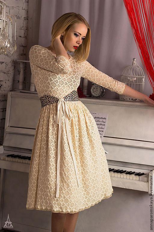 """Платья ручной работы. Ярмарка Мастеров - ручная работа. Купить Платье """"Baby doll""""+ пояс в подарок!. Handmade. Белый"""