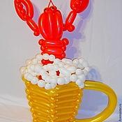 Подарки к праздникам ручной работы. Ярмарка Мастеров - ручная работа Пивная кружка с раком из воздушных шаров.. Handmade.
