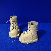 Заготовки для кукол и игрушек ручной работы. Ярмарка Мастеров - ручная работа Сапожки и ботиночки для кукол и игрушек. Handmade.