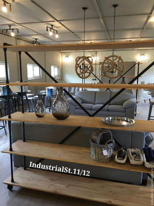 Мебель ручной работы. Ярмарка Мастеров - ручная работа. Купить стеллаж Индустриальный стиль. Handmade. Рыжий, лофт, стеллажы, комоды