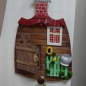 """Картины и панно ручной работы. Ярмарка Мастеров - ручная работа """"Дверь к счастью! Избушка.""""  - панно миниатюра. Handmade."""