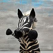 Кукольный театр ручной работы. Ярмарка Мастеров - ручная работа Перчаточная игрушка: Зебра. Handmade.