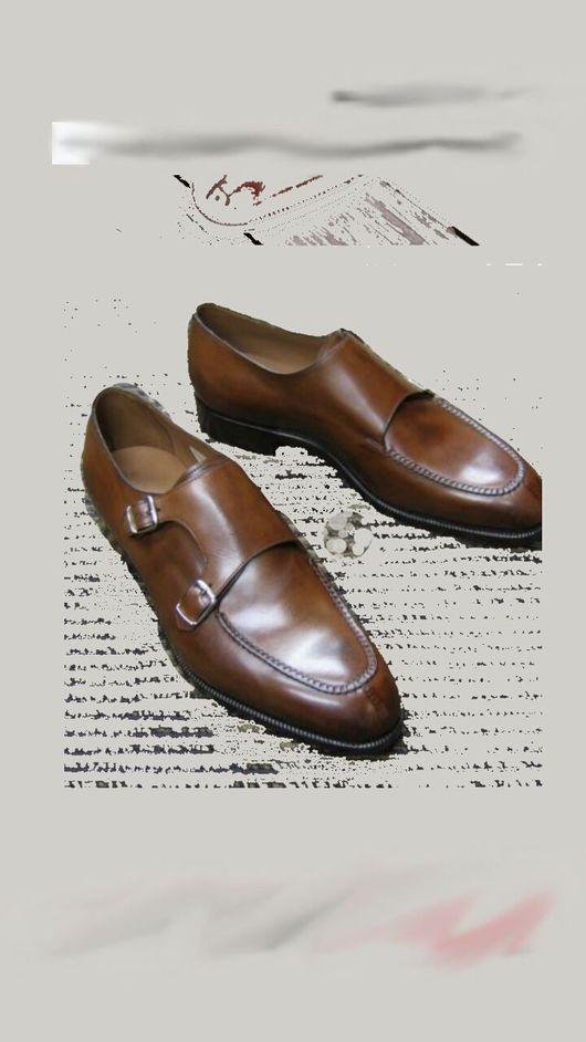 """Обувь ручной работы. Ярмарка Мастеров - ручная работа. Купить Дабл Монки """"Зеркало"""". Handmade. Мужская обувь, обувь на заказ"""