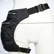 Сумки и аксессуары handmade. Livemaster - original item Textile Leather Leg Hip Bum Waist Rider Bag. Handmade.
