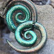 Украшения handmade. Livemaster - original item luristanica,faux Golden-green